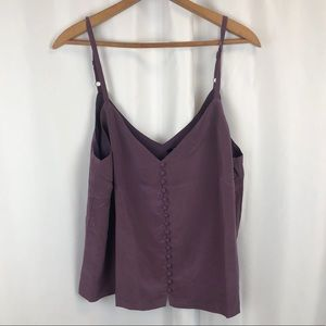 NWT Madewell silk button front cami tank top